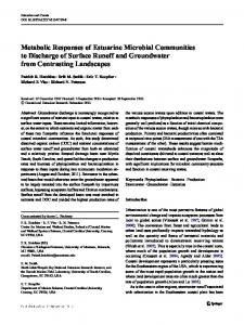 Metabolic Responses of Estuarine Microbial Communities to Discharge of Surface Runoff and Groundwater from Contrasting Landscapes