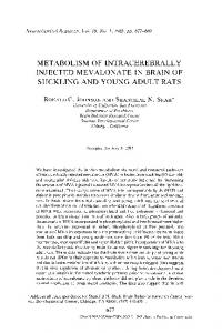 Metabolism of intracerebrally injected mevalonate in brain of suckling and young adult rats