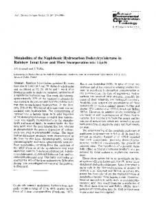 Metabolites of the naphthenic hydrocarbon dodecylcyclohexane in rainbow trout liver and their incorporation into lipids