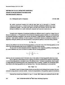 Method of Calculating the Additional Error of Measurement Transducers for Stochastic Signals