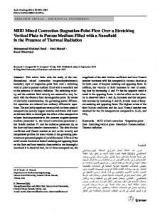 MHD Mixed Convection Stagnation-Point Flow Over a Stretching Vertical Plate in Porous Medium Filled with a Nanofluid in the Presence of Thermal Radiation
