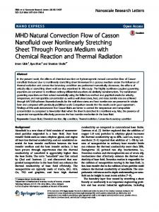 MHD Natural Convection Flow of Casson Nanofluid over Nonlinearly Stretching Sheet Through Porous Medium with Chemical Reaction and Thermal Radiation