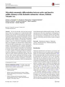 Microbial community differentiation between active and inactive sulfide chimneys of the Kolumbo submarine volcano, Hellenic Volcanic Arc