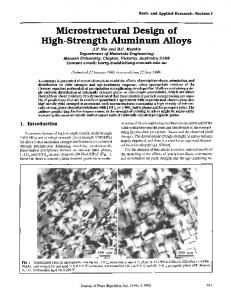 Microstructural design of high-strength aluminum alloys