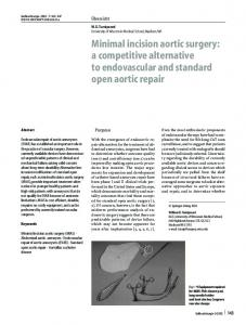 Minimal incision aortic surgery: a competitive alternative to endovascular and standard open aortic repair