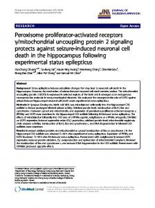mitochondrial uncoupling protein 2 signaling protects against seizure-induced neuronal cell death in the hippocampus following experimental status epilepticus
