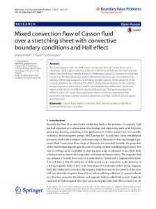 Mixed convection flow of Casson fluid over a stretching sheet with convective boundary conditions and Hall effect