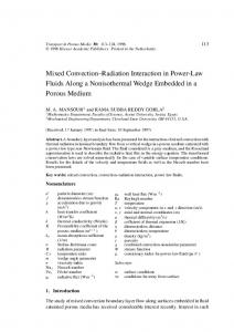 Mixed Convection–Radiation Interaction in Power-Law Fluids Along a Nonisothermal Wedge Embedded in a Porous Medium