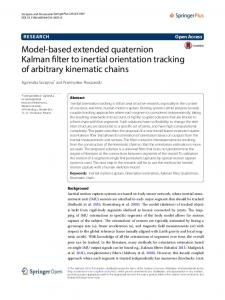 Model-based extended quaternion Kalman filter to inertial orientation tracking of arbitrary kinematic chains