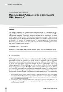Modeling Joint Purchases with a Multivariate MNL Approach