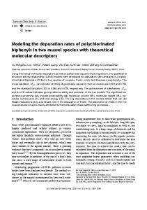 Modeling the depuration rates of polychlorinated biphenyls in two mussel species with theoretical molecular descriptors