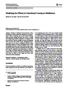 Modeling the Effects of Attentional Cueing on Meditators
