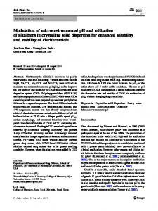 Modulation of microenvironmental pH and utilization of alkalizers in crystalline solid dispersion for enhanced solubility and stability of clarithromicin