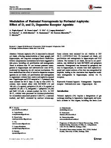 Modulation of Postnatal Neurogenesis by Perinatal Asphyxia: Effect of D1 and D2 Dopamine Receptor Agonists
