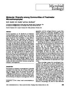 Molecular Diversity among Communities of Freshwater Microchlorophytes