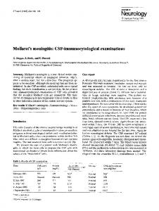 Mollaret's meningitis: CSF-immunocytological examinations