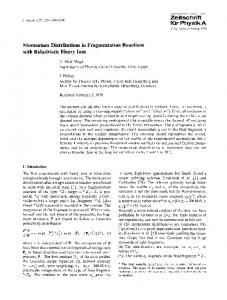 Momentum distributions in fragmentation reactions with relativistic heavy ions