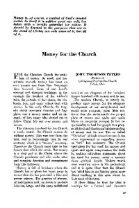 Money for the church