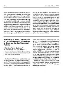 Monitoring of Blood Concentration of Cyclosporin and its Metabolites in Renal and Cardiac Transplant Patients