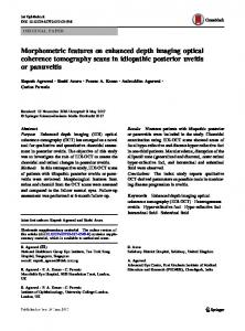 Morphometric features on enhanced depth imaging optical coherence tomography scans in idiopathic posterior uveitis or panuveitis