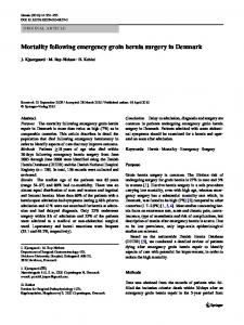 Mortality following emergency groin hernia surgery in Denmark