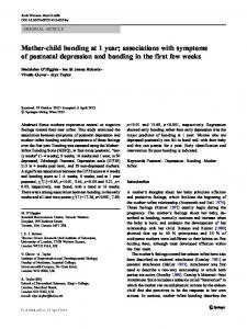 Mother-child bonding at 1 year; associations with symptoms of postnatal depression and bonding in the first few weeks