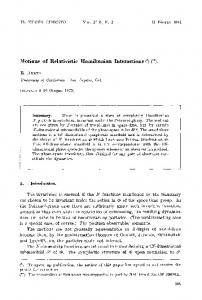 Motions of relativistic Hamiltonian interactions