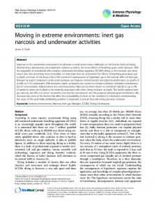 Moving in extreme environments: inert gas narcosis and underwater activities