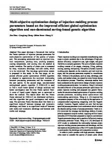 Multi-objective optimization design of injection molding process parameters based on the improved efficient global optimization algorithm and non-dominated sorting-based genetic algorithm