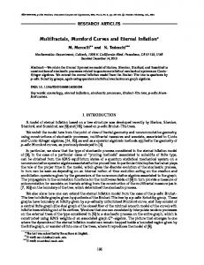 Multifractals, Mumford curves and eternal inflation
