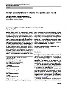Multiple osteochondroses of bilateral knee joints: a case report
