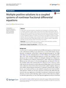 Multiple positive solutions to a coupled systems of nonlinear fractional differential equations