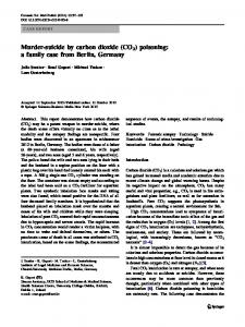Murder-suicide by carbon dioxide (CO2) poisoning: a family case from Berlin, Germany