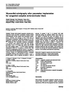Myocardial scintigraphy after pacemaker implantation for congenital complete atrioventricular block