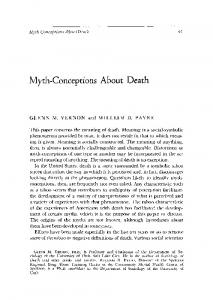 Myth-conceptions about death