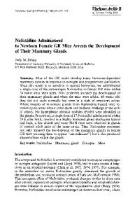 Nafoxidine administered to newborn female GR mice arrests the development of their mammary glands