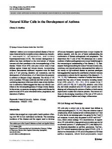 Natural Killer Cells in the Development of Asthma