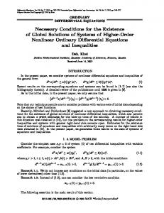 Necessary Conditions for the Existence of Global Solutions of Systems of Higher-Order Nonlinear Ordinary Differential Equations and Inequalities