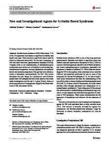New and Investigational Agents for Irritable Bowel Syndrome