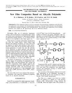 New film composites based on alicyclic polyimide