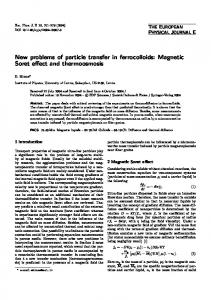New problems of particle transfer in ferrocolloids: Magnetic Soret effect and thermoosmosis