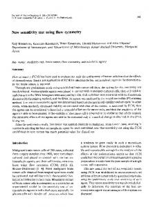 New sensitivity test using flow cytometry