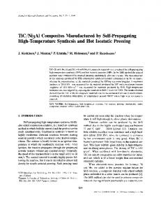 Ni3Al Composites Manufactured by Self-Propagating High-Temperature Synthesis and Hot Isostatic Pressing
