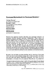 Nocturnal biofeedback for nocturnal bruxism