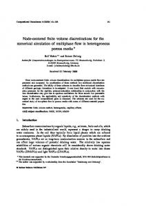 Node-centered finite volume discretizations for the numerical simulation of multiphase flow in heterogeneous porous media