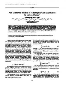 Non-isothermal kinetics of metallurgical coke gasification by carbon dioxide