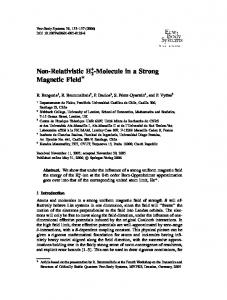 Non-Relativistic H2+-Molecule in a Strong Magnetic Field