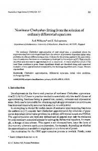 Nonlinear Chebyshev fitting from the solution of ordinary differential equations