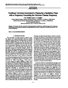 Nonlinear currents generated in plasma by a radiation pulse with a frequency exceeding the electron plasma frequency