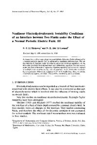 Nonlinear electrohydrodynamic instability conditions of an interface between two fluids under the effect of a normal periodic electric field. III